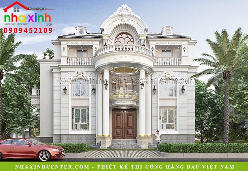 Biệt thự tân cổ điển với tông màu trắng