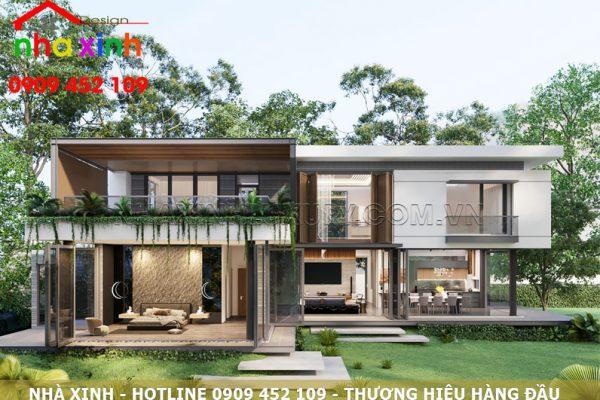Mẫu thiết kế biệt thự hiện đại đẹp